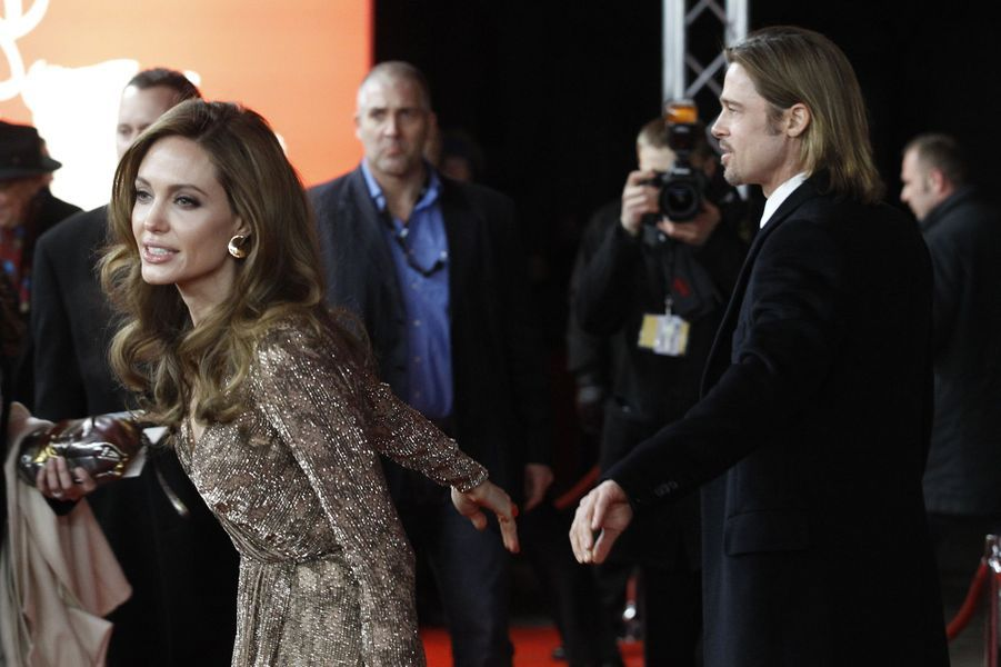 Angelina Jolie et Brad Pitt au festival de Berlin en février 2012.