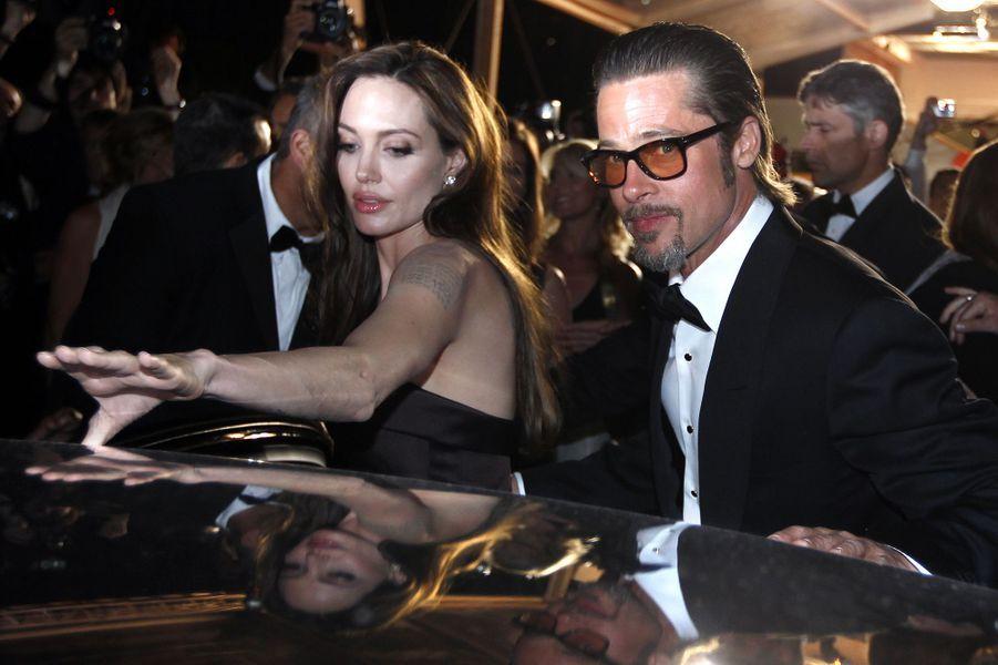 Angelina Jolie et Brad Pitt au festival de Cannes en 2011.