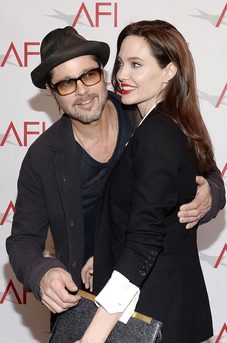 Angelina Jolie et Brad Pitt aux AFI Awards en janvier 2015.
