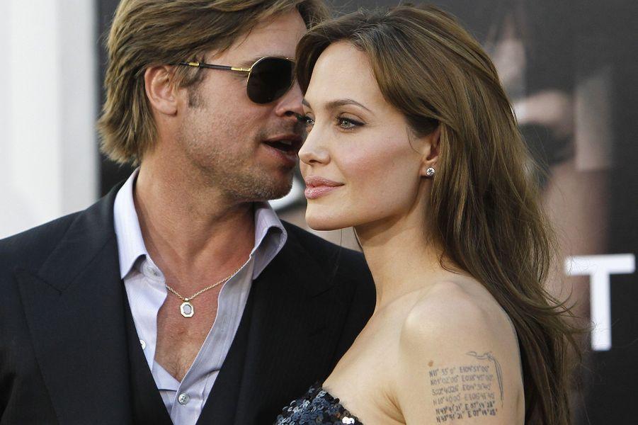 Angelina Jolie et Brad Pitt en 2010.