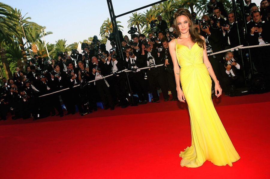 Angelina Jolie à Cannes, en 2007