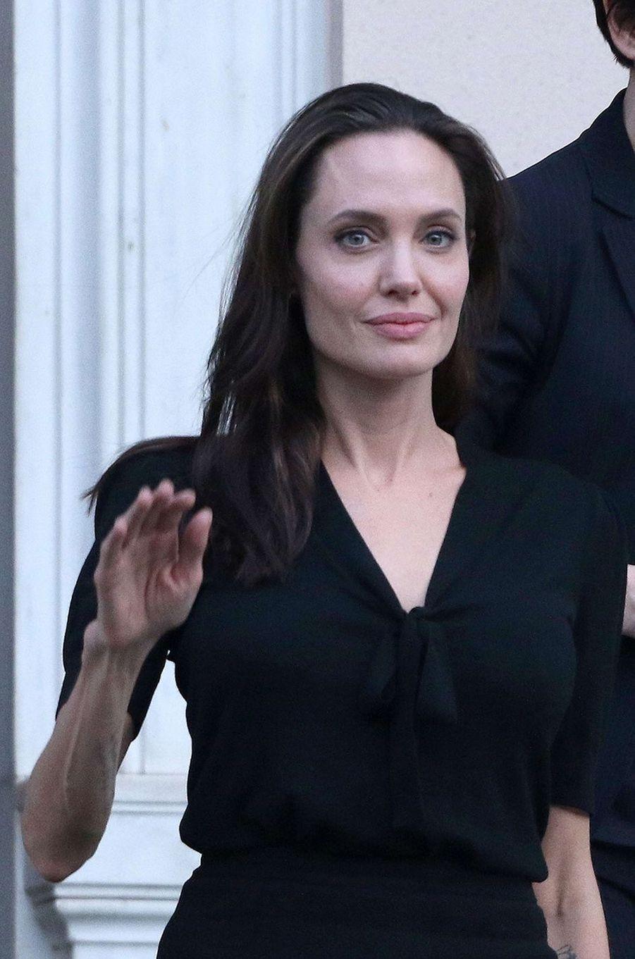 Angelina Jolie en Grèce, en mars 2016