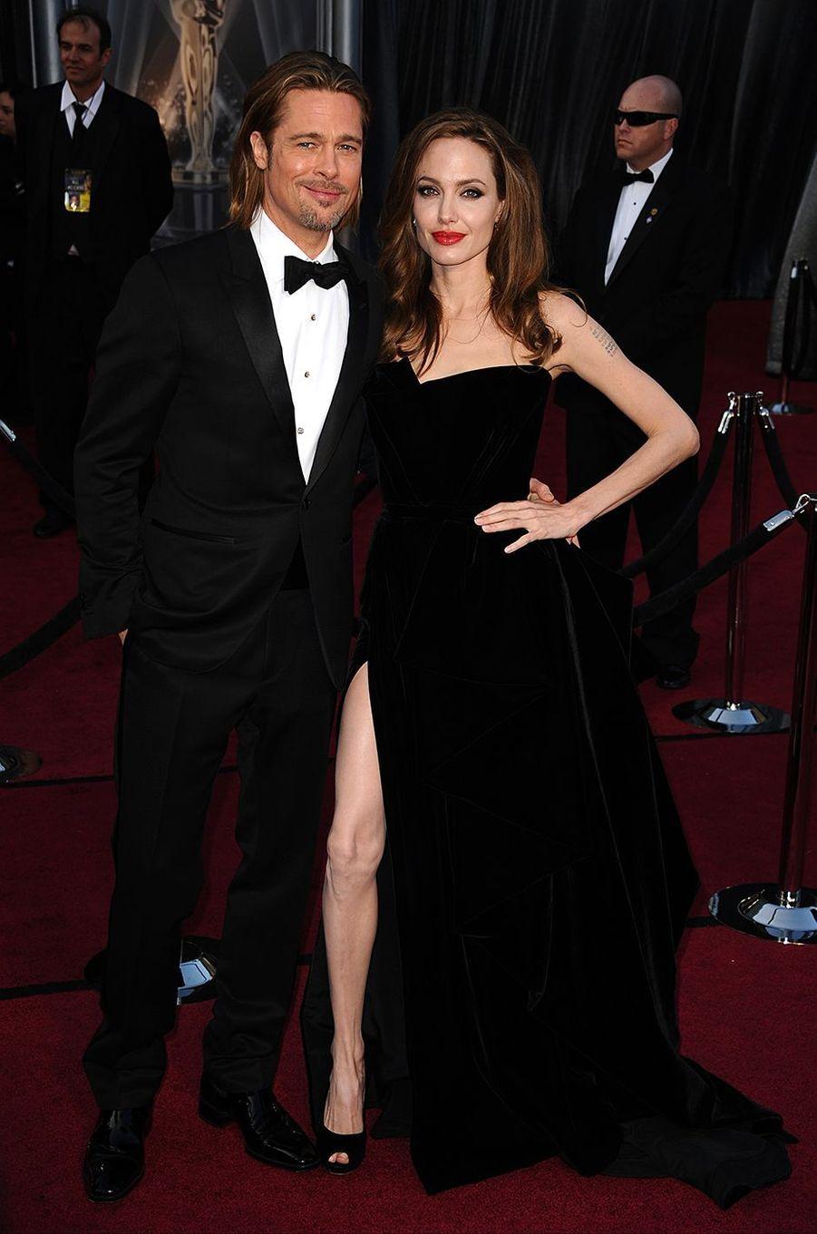 Angie avec son époux Brad Pitt en 2012