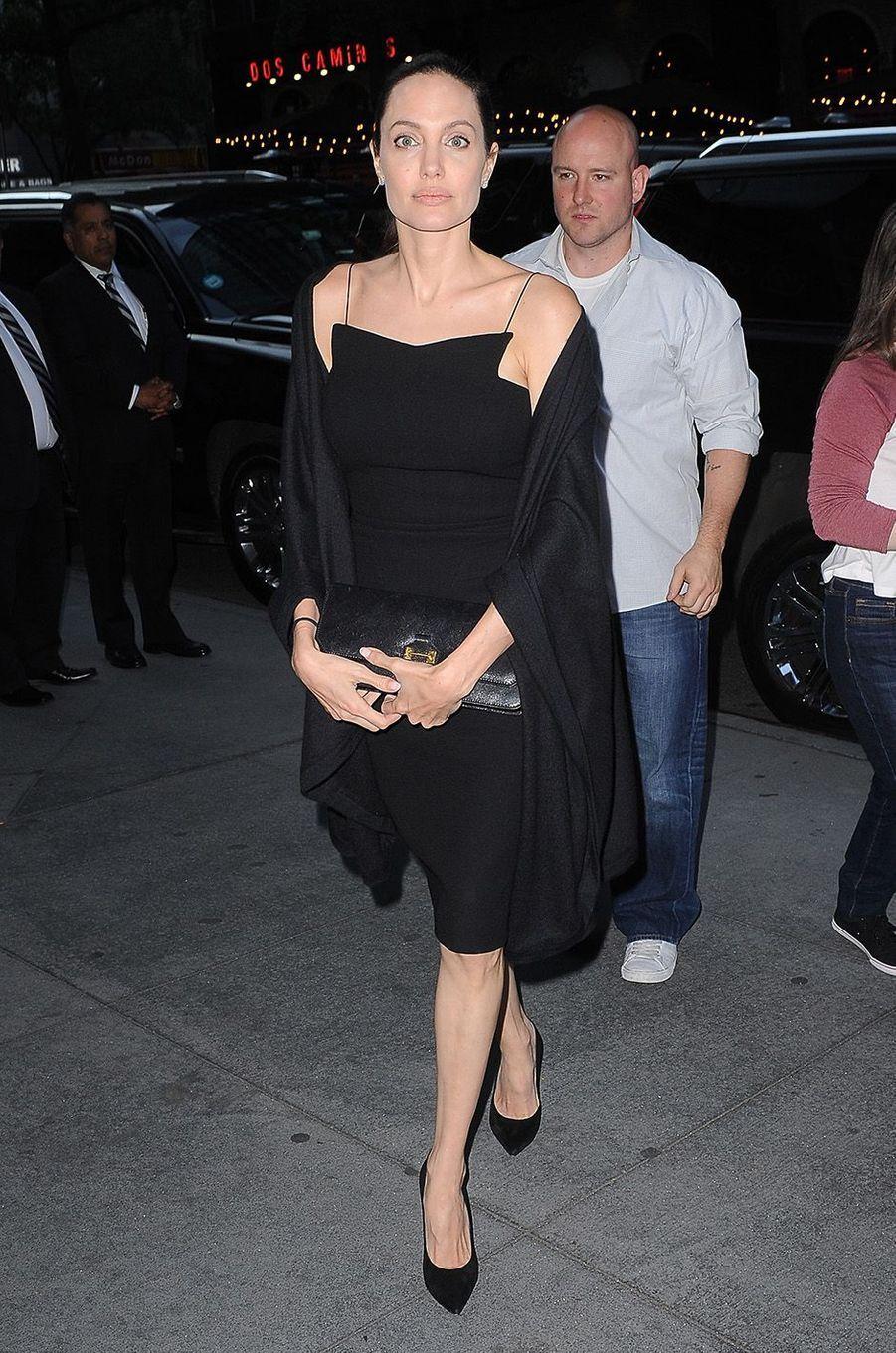Angelina Jolie avec son fils Maddox, à New York, le 18 juin 2016.