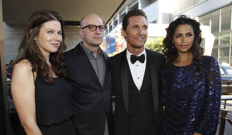Steven Soderbergh, sa femme et le couple McConaughey