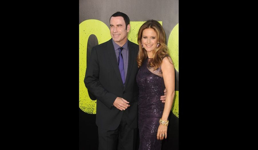 John Travolta accompagné de son épouse Kelly Preston