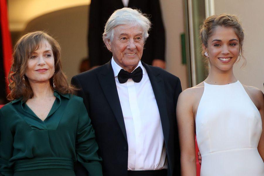 Isabelle Huppert, Paul Verhoeven et Alice Isaaz