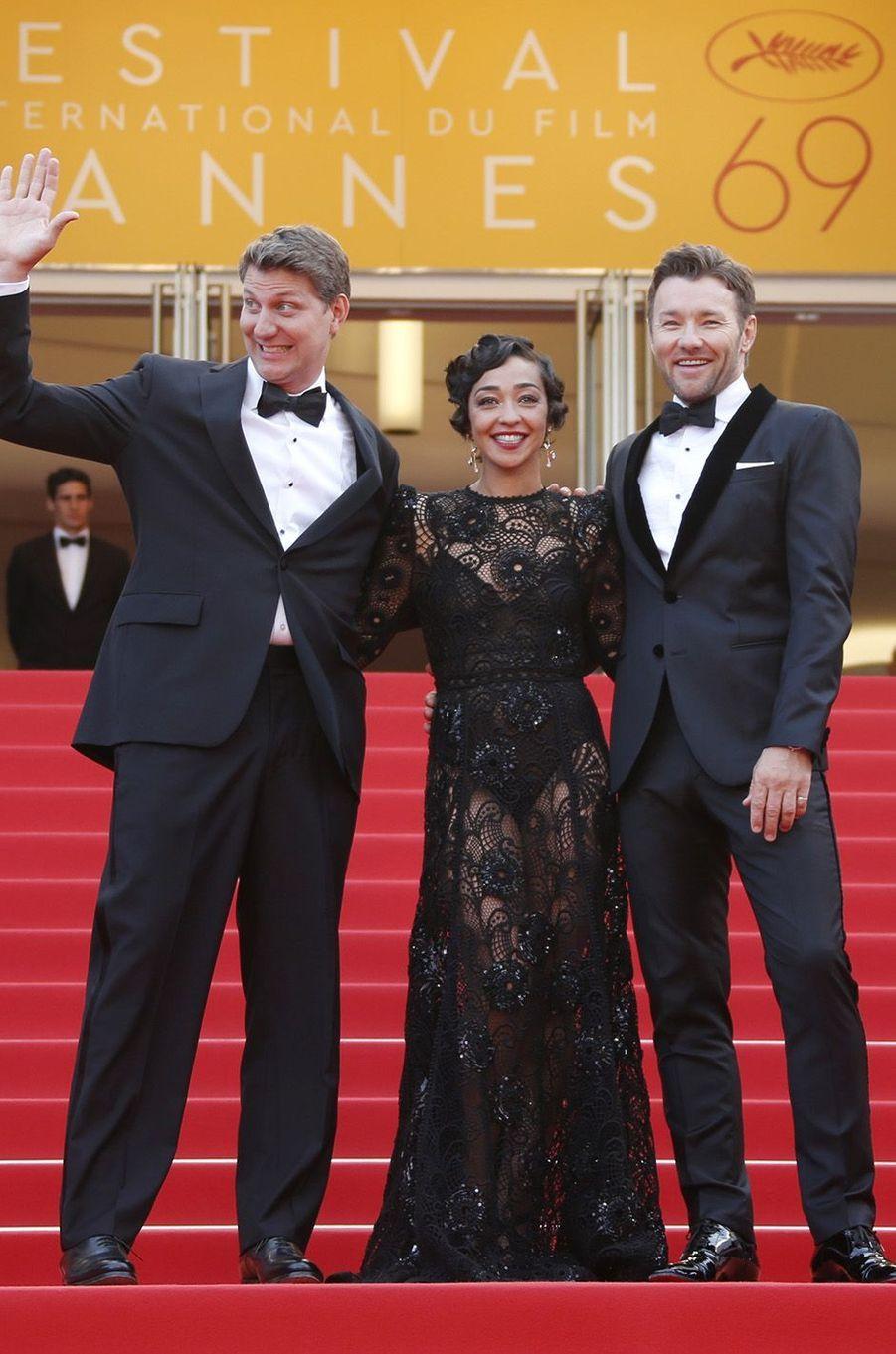 Joel Edgerton, Ruth Negga et Jeff Nichols à Cannes, le 16 mai 2016