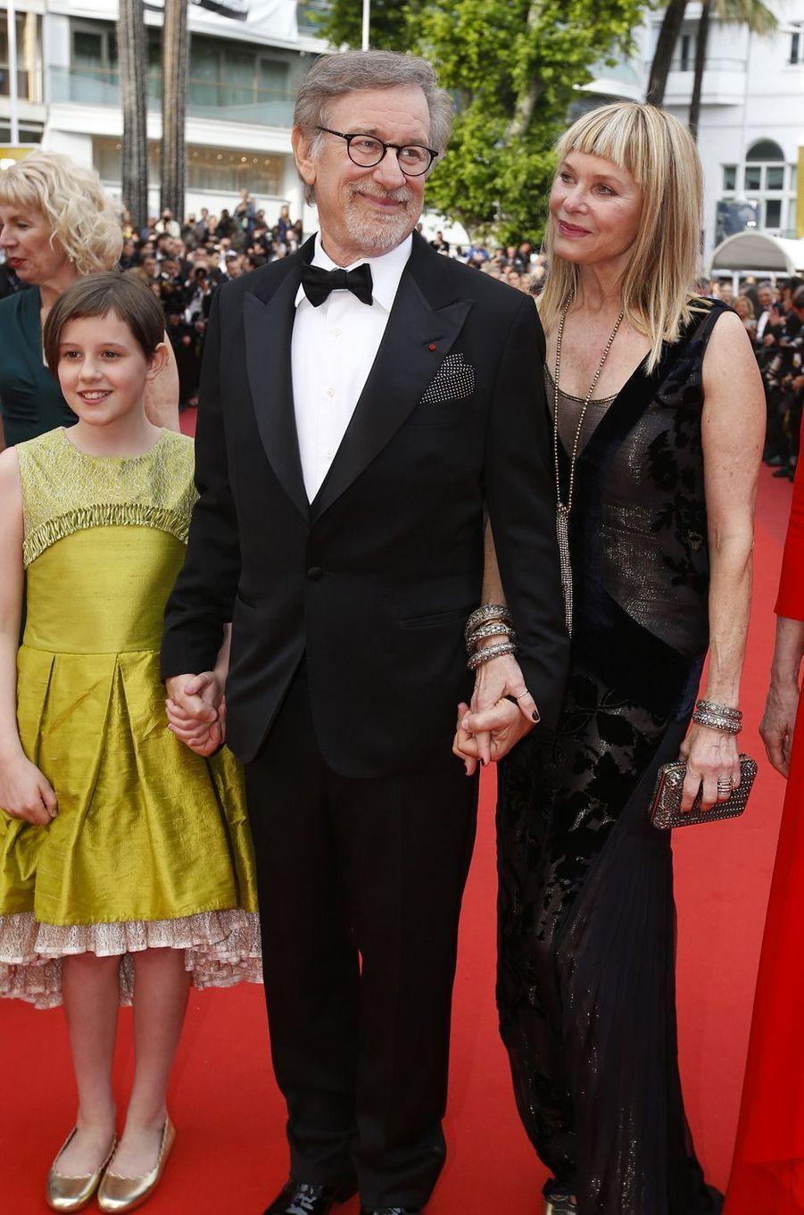 Steven Spielberg et son épouse à Cannes