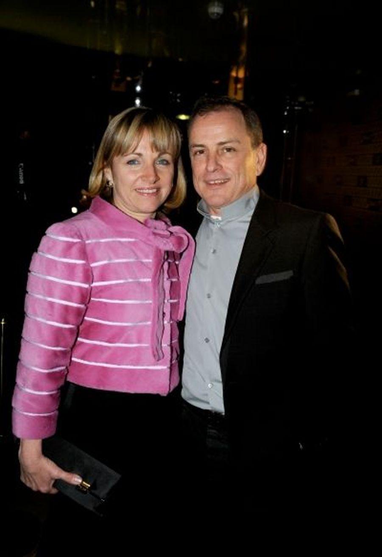 Président de Fendi, Michael Burke et sa femme, Brigitte.