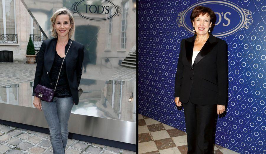 Les nouvelles complices du « Grand 8 », Laurence Ferrari et Roselyne Bachelot.