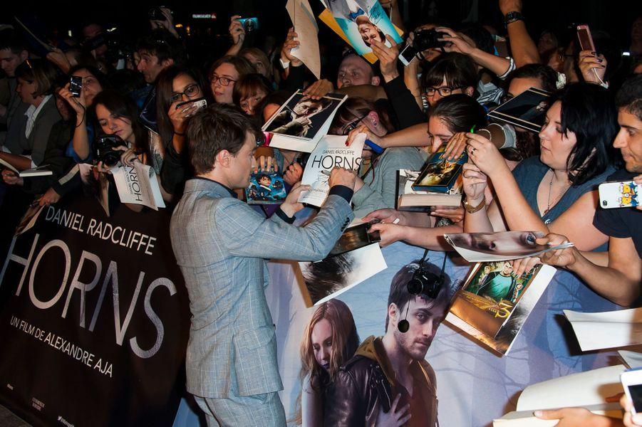 Daniel Radcliffe à la première de «Horns» au cinéma Gaumont Marignan à Paris, le 14 septembre 2014.