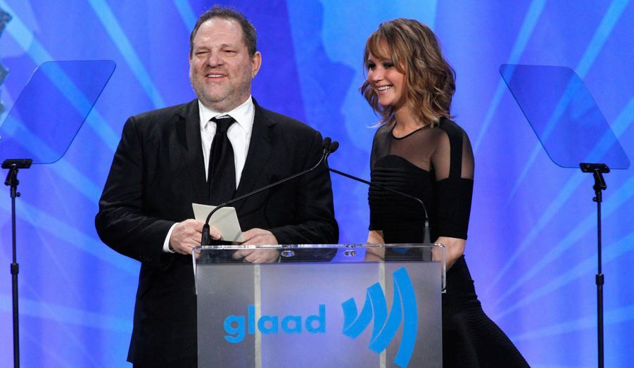 Harvey Weinstein et Jennifer Lawrence