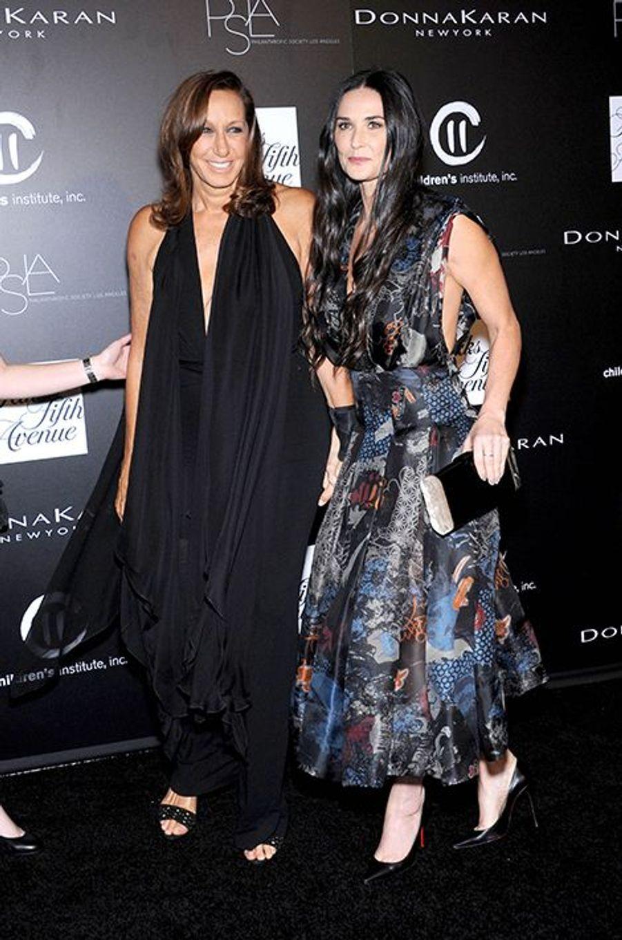 Demi Moore et Donna Karan à la «Philanthropic Society Autumn Party» de Los Angeles ce 8 octobre 2014