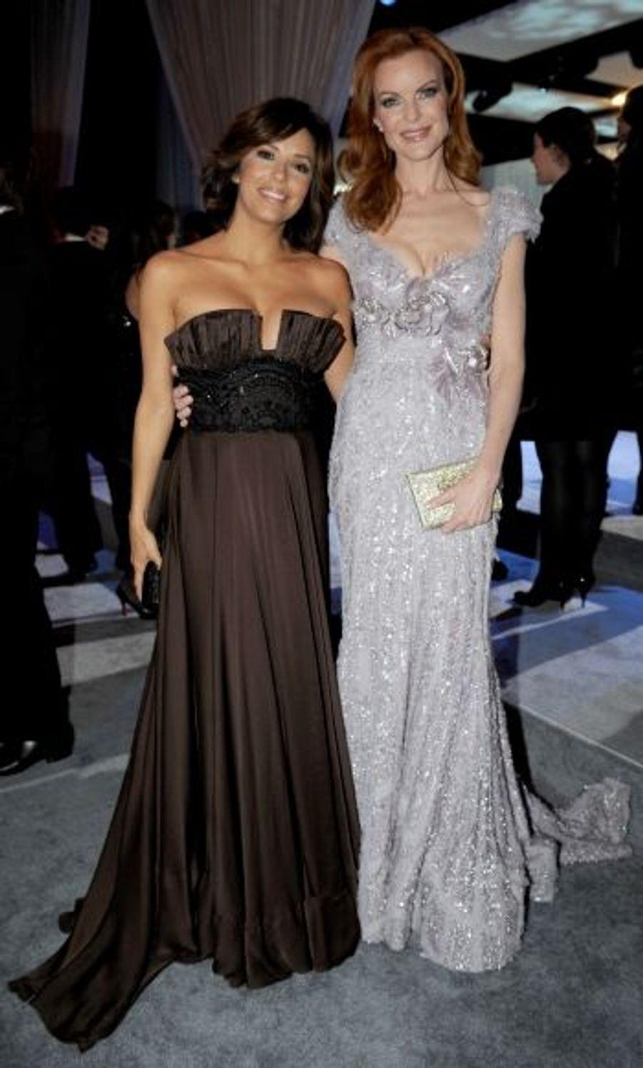 Après avoir tourné durant l'après-midi « Desperate Housewives », Eva Longoria et Marcia Cross se sont retrouvées à la soirée.