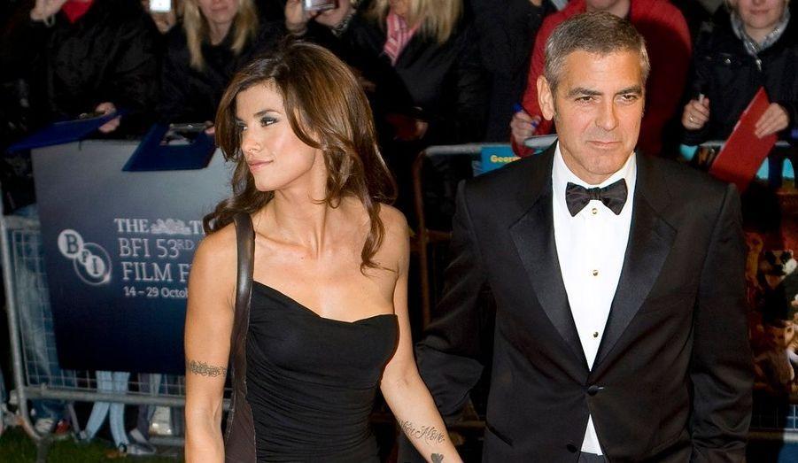Ils sont inséparables. George Clooney était bien sûr accompagné de la belle Italienne Elisabetta Cannalis