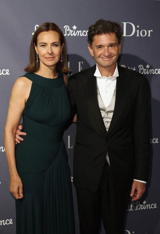 Carole Bouquet et son compagnon Philippe Sereys de Rothschild