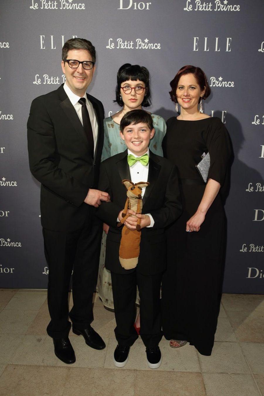 En famille, le réalisateur Mark Osborne, avec son fils l'acteur Riley Osborne