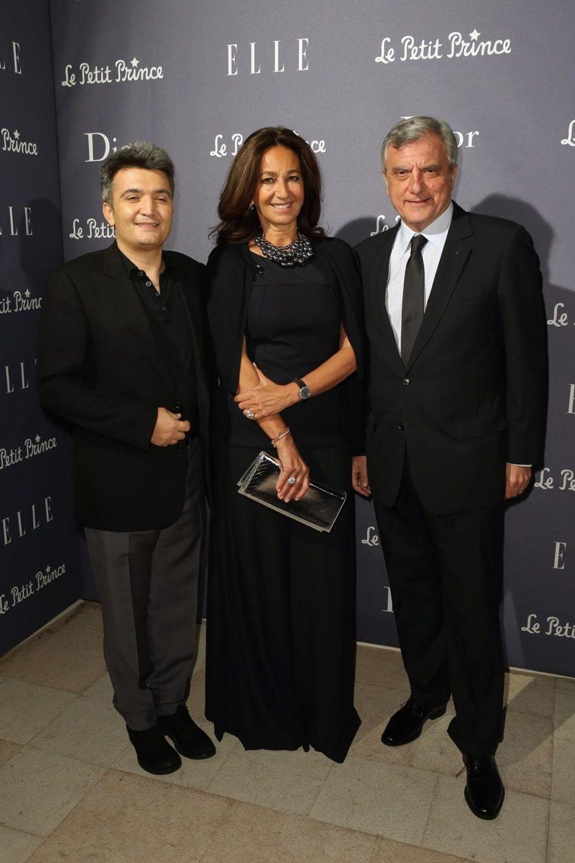 Thomas Langmann avec Sidney Toledano, PDG de Christian Dior Couture, et son épouse Katia