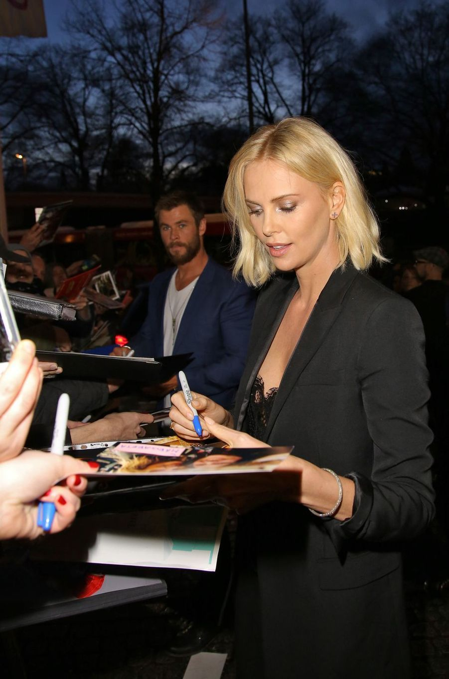 Charlize Theron à Hambourg le 29 mars 2016