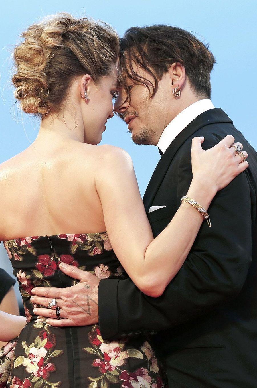Amber Heard et Johnny Depp à Venise, septembre 2015