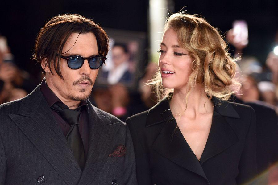 Amber Heard et Johnny Depp en janvier 2015