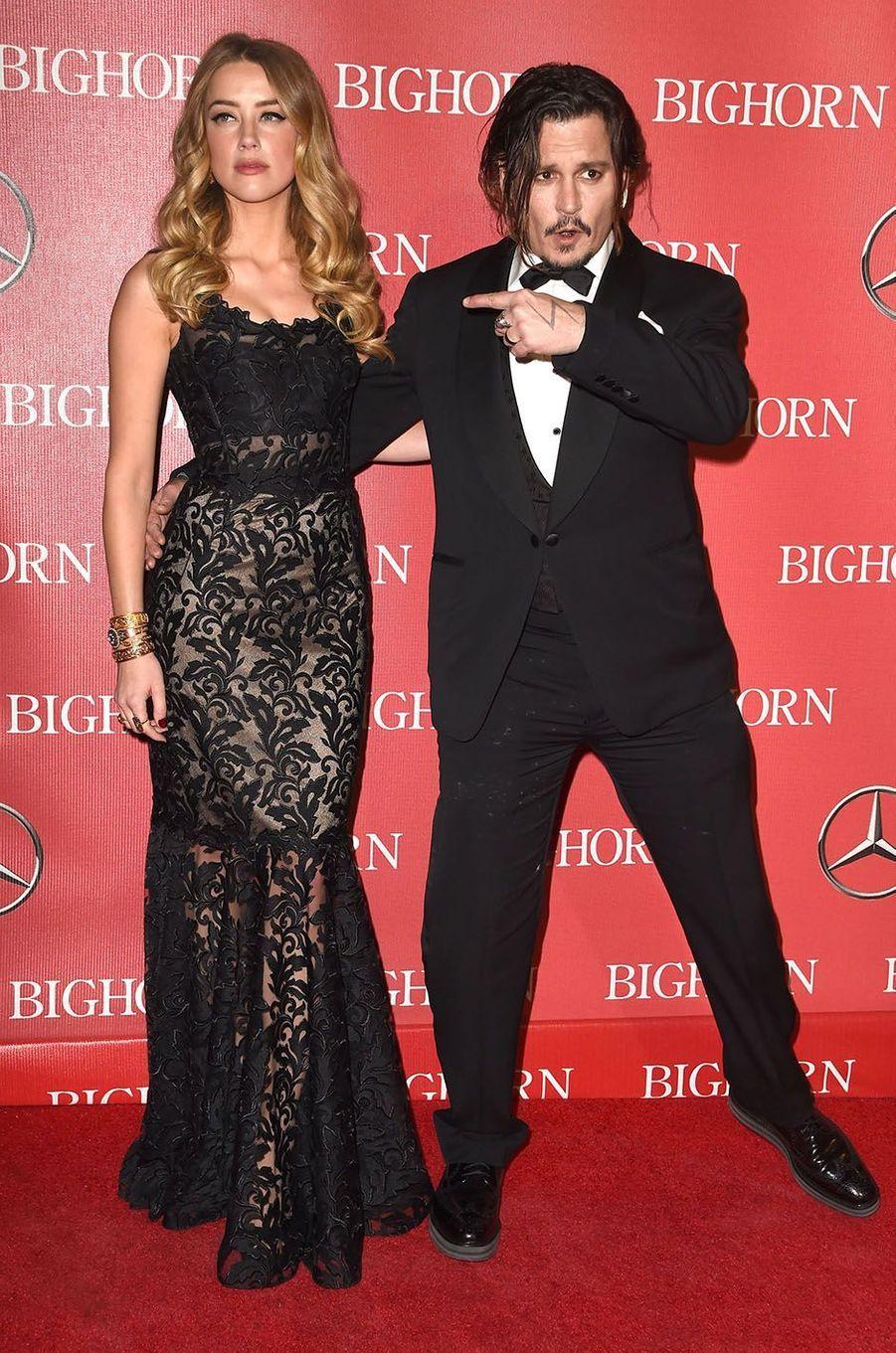 Amber Heard et Johnny Depp en janvier 2016