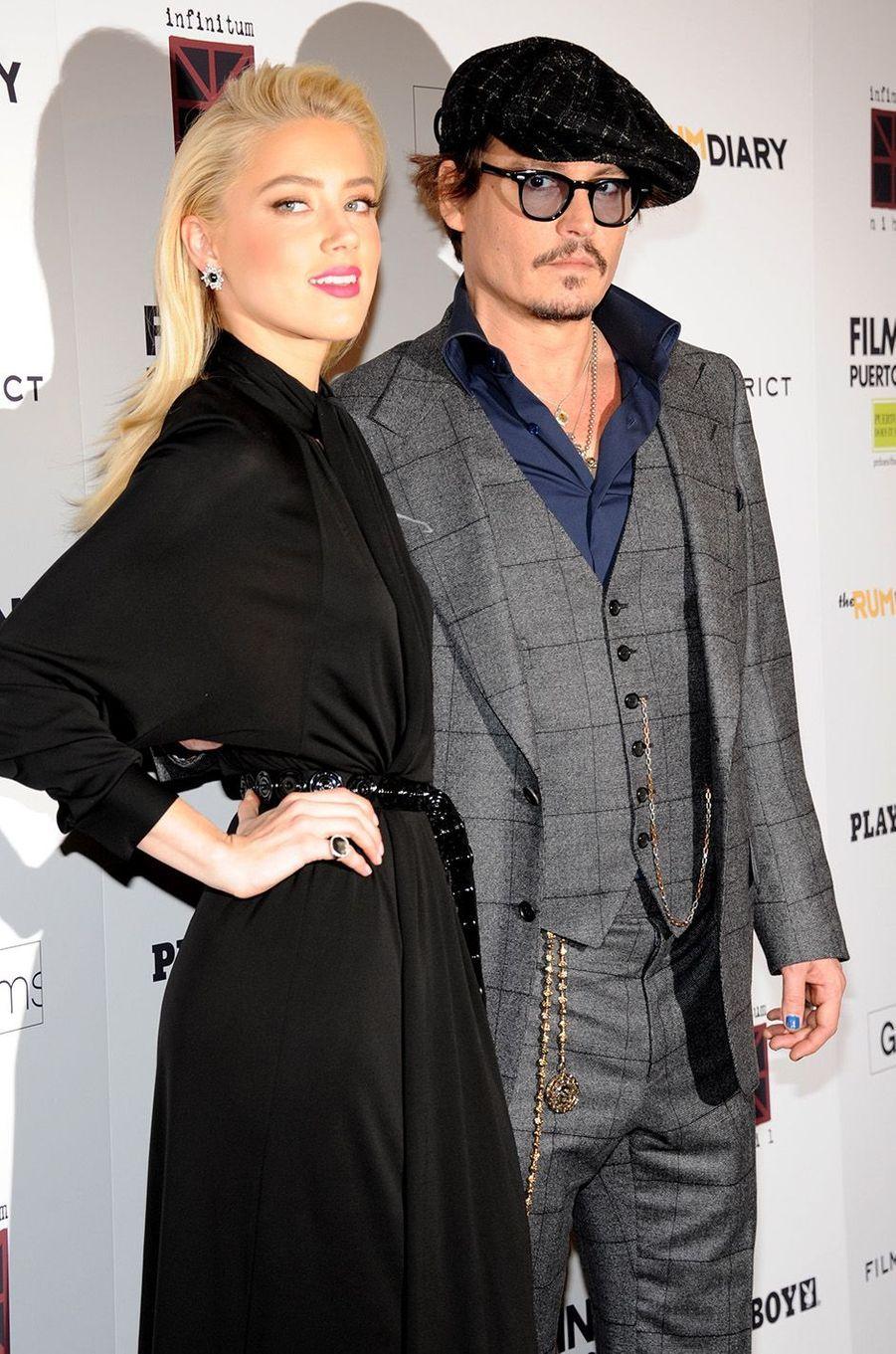 Amber Heard et Johnny Depp en octobre 2011