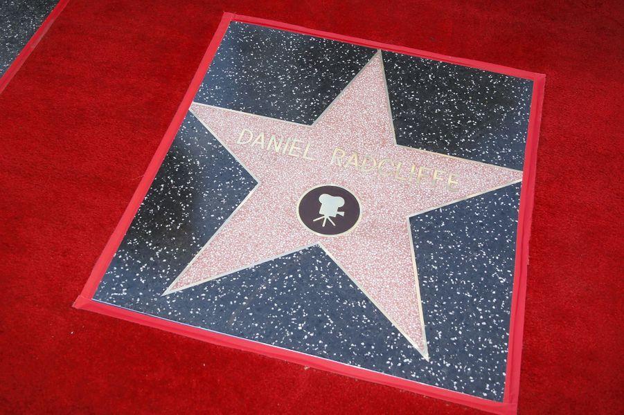 L'étoile de Daniel Radcliffe à Los Angeles le 12 novembre 2015
