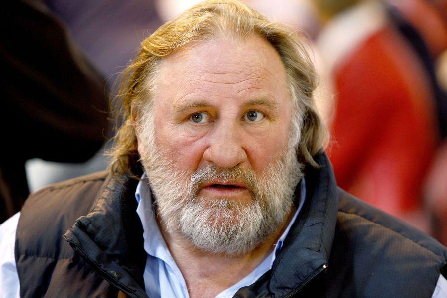 Gérard Depardieu à Saumur le 19 avril 2015