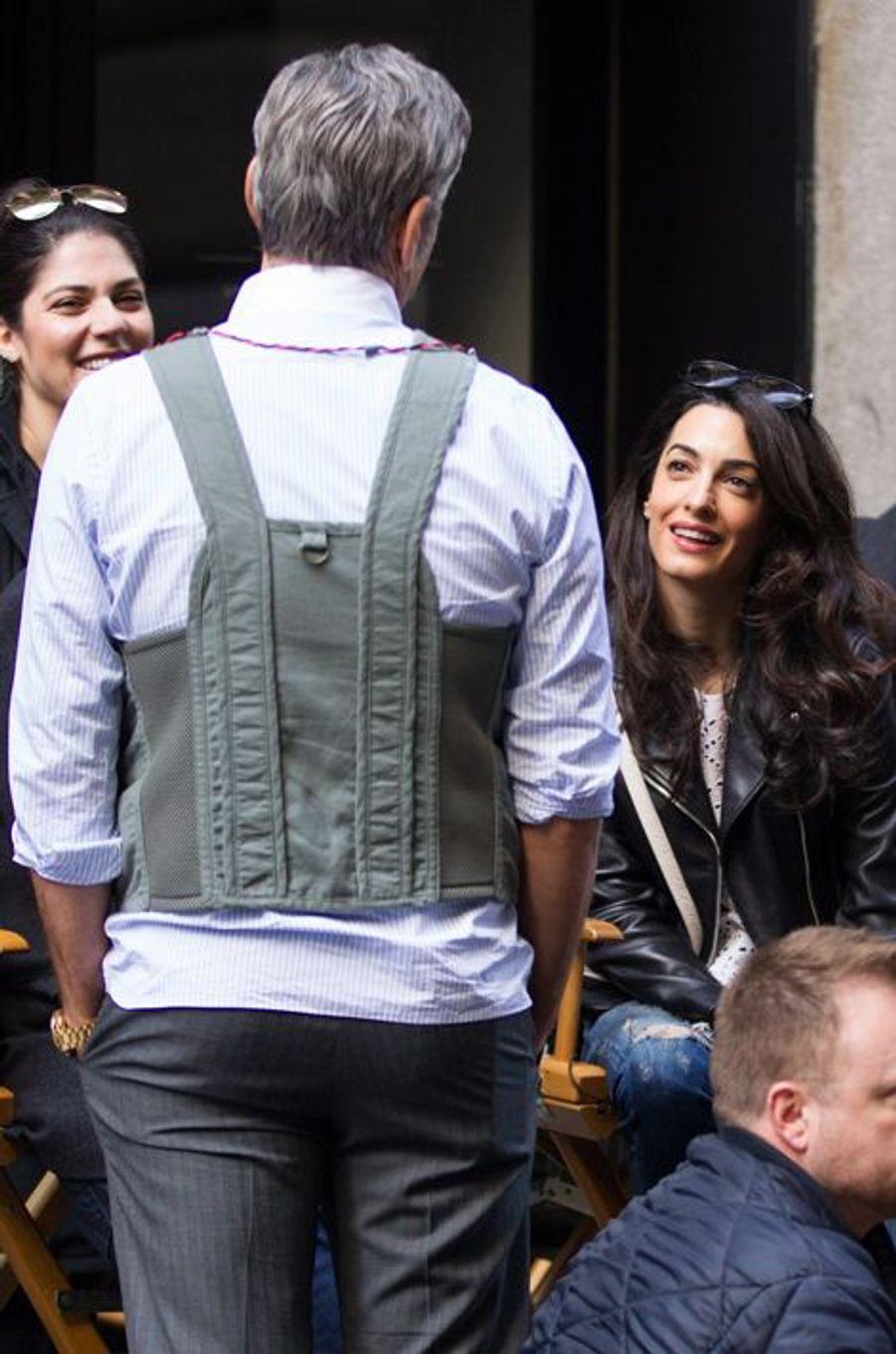 George et Amal Clooney à New York le 12 avril 2015