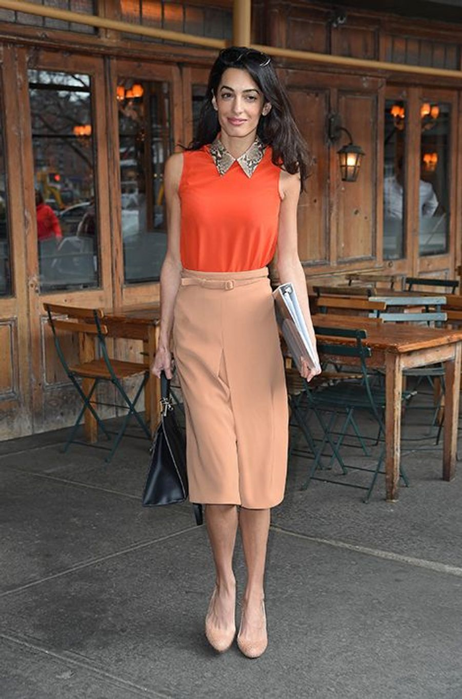 Amal Clooney à New York le 7 avril 2015