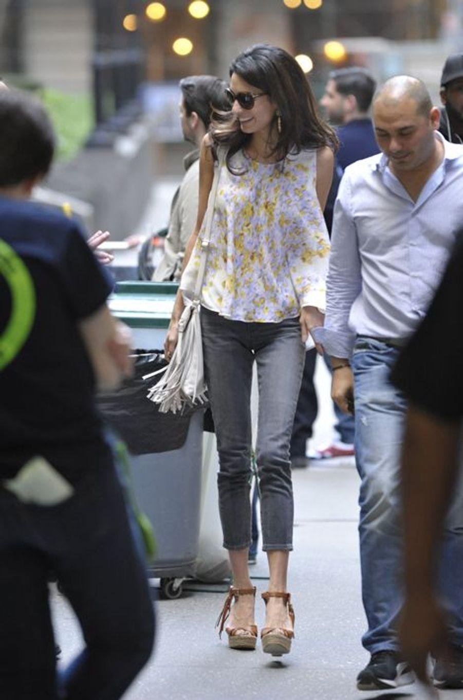 Amal Clooney à New York le 18 avril 2015