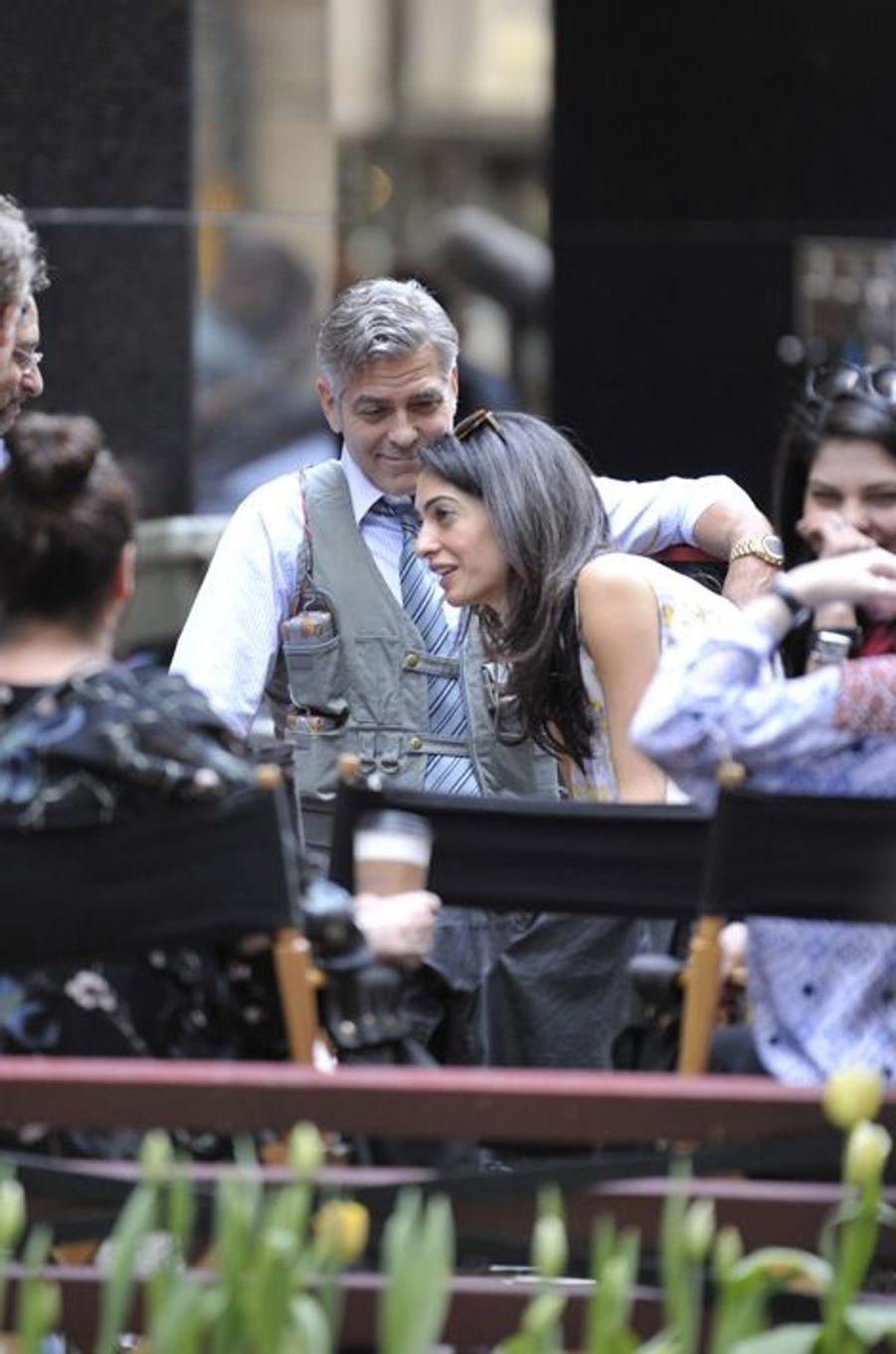 George et Amal Clooney à New York le 18 avril 2015