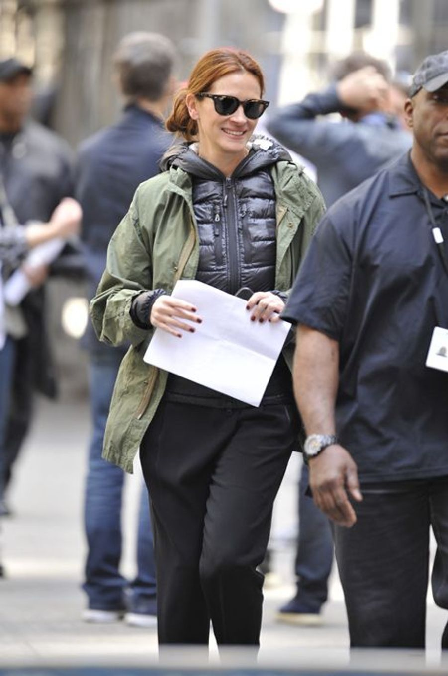 Julia Roberts à New York le 18 avril 2015