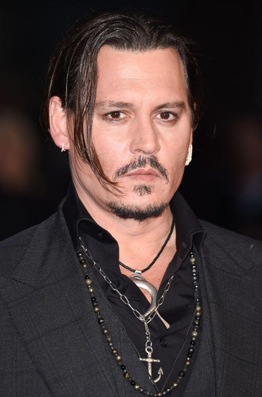 Johnny Depp à Londres le 11 octobre 2015
