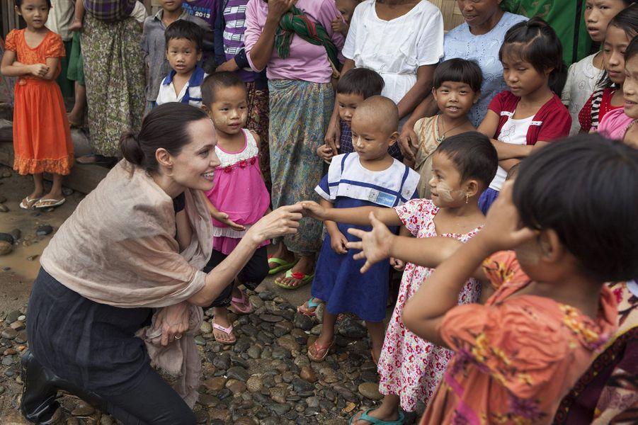 Le 30 juillet 2015 dans un camp de réfugiés situé à Myitkyina