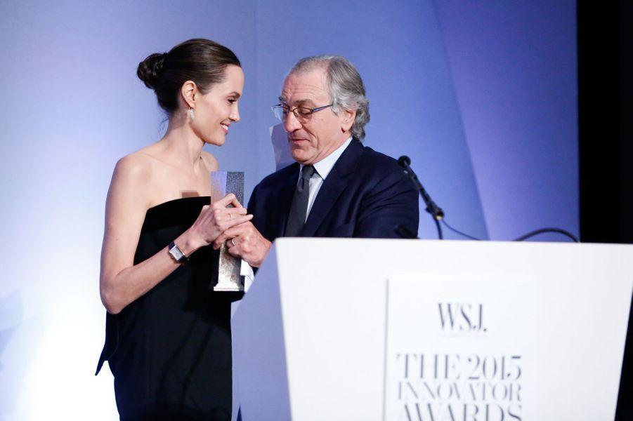 Angelina Jolie et Robert De Niro à New York le 4 novembre 2015