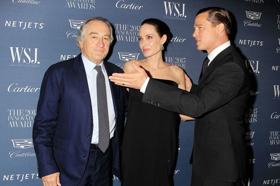 Robert De Niro, Angelina Jolie et Brad Pitt à New York le 4 novembre 2015