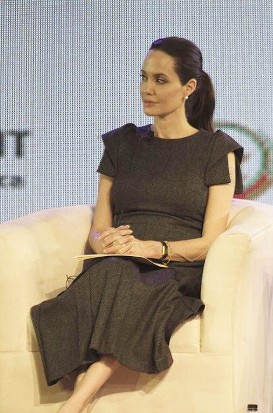 Angelina Jolie à Johannesburg le 12 juin 2015