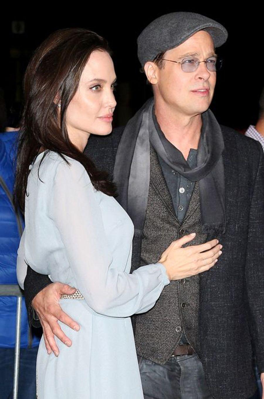 Angelina Jolie et Brad Pitt à New York le 3 novembre 2015