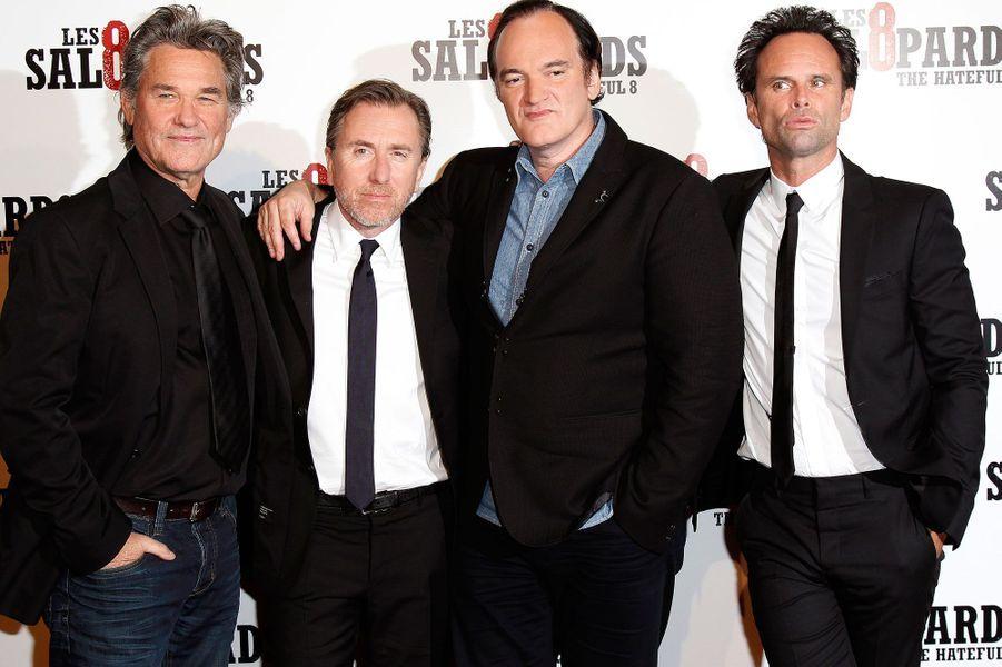 Kurt Russell, Tim Roth, Quentin Tarantino et Walton Goggins