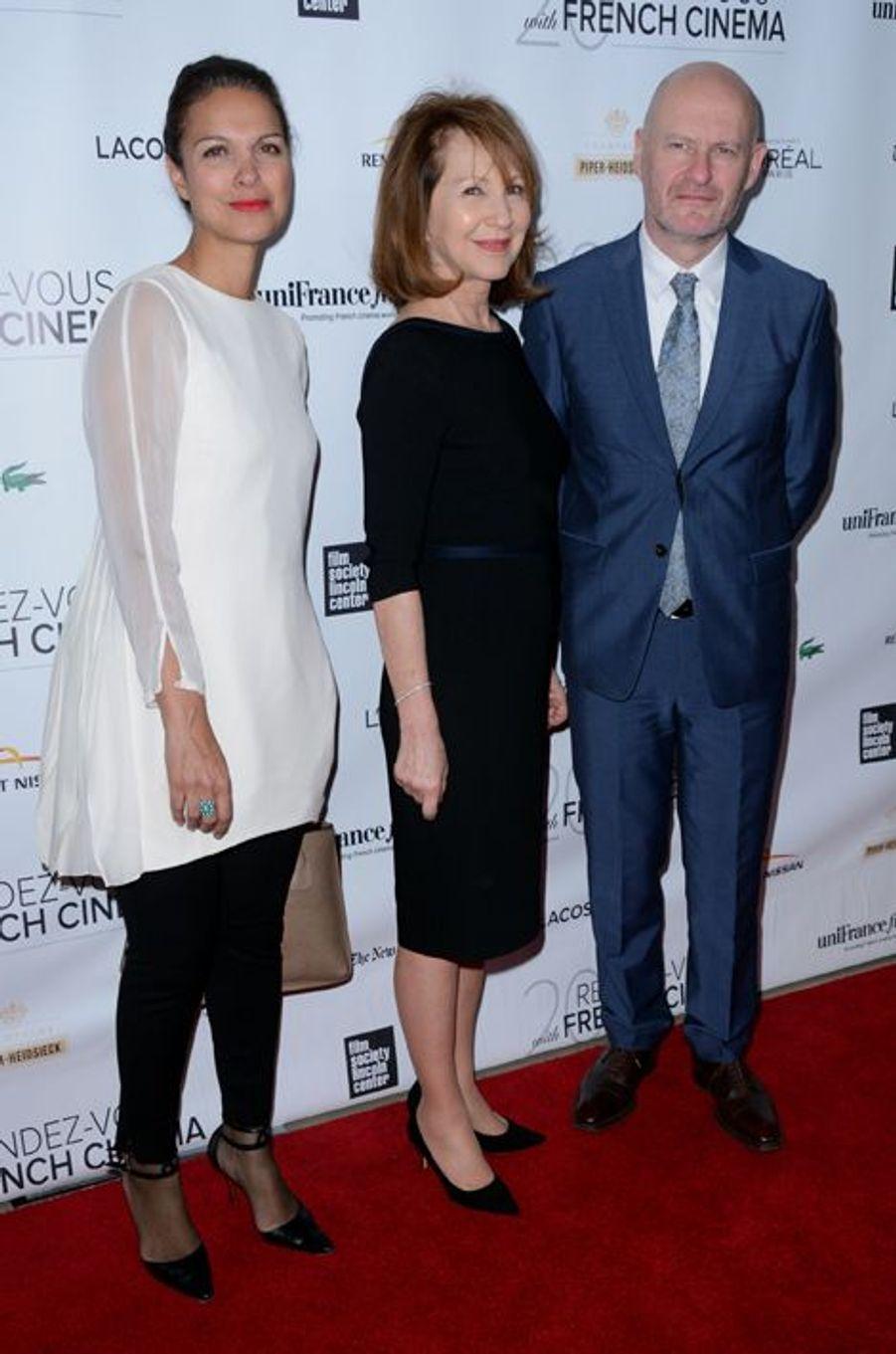 Nathalie Baye, avec Isabelle Giordano et Jean-Paul Salomé, à New York, le 6 mars 2015