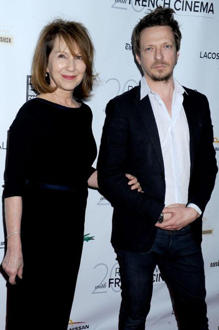 Nathalie Baye et Frédéric Tellier à la première aux USA de «Trois cœurs» à New York, le 6 mars 2015