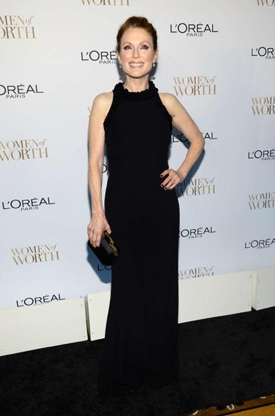 Julianne Moore à New York le 2 décembre 2014