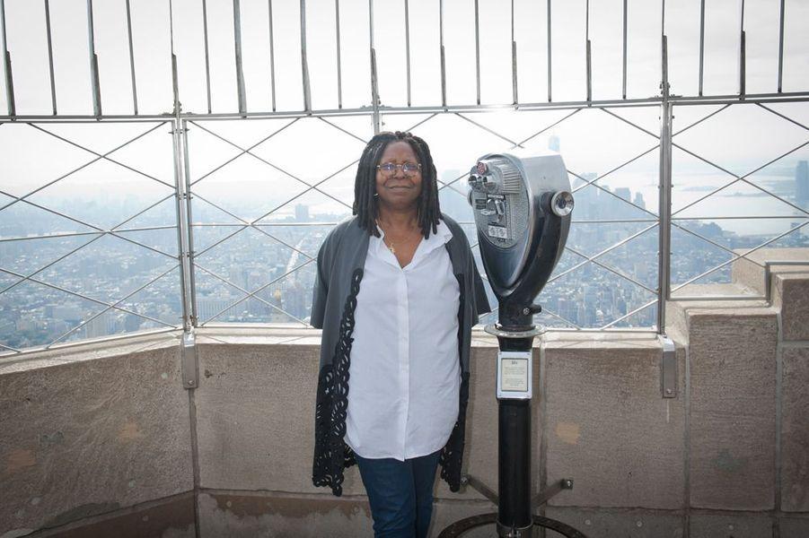 Sur le toit de l'Empire State Building, octobre 2014
