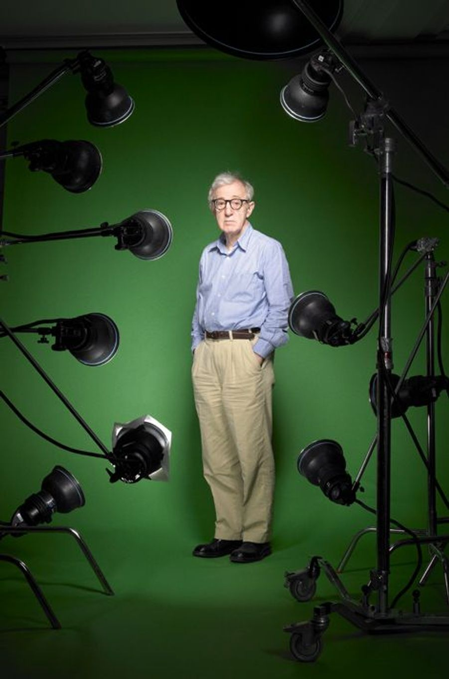 Woody Allen pose pour Paris Match, juin 2012