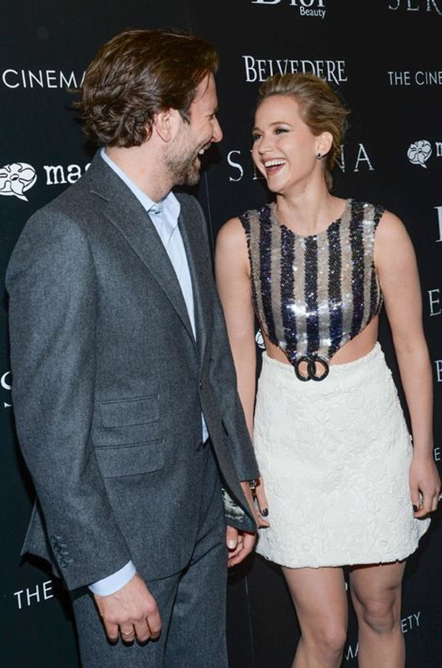 Bradley Cooper et Jennifer Lawrence à New York le 21 mars 2015