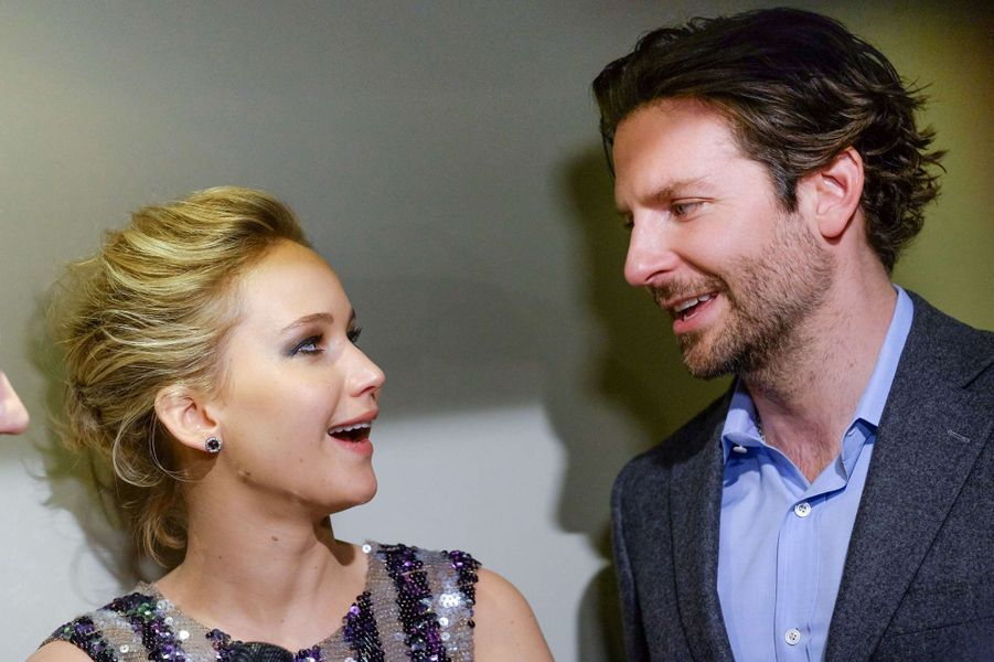 Jennifer Lawrence et Bradley Cooper à New York le 21 mars 2015