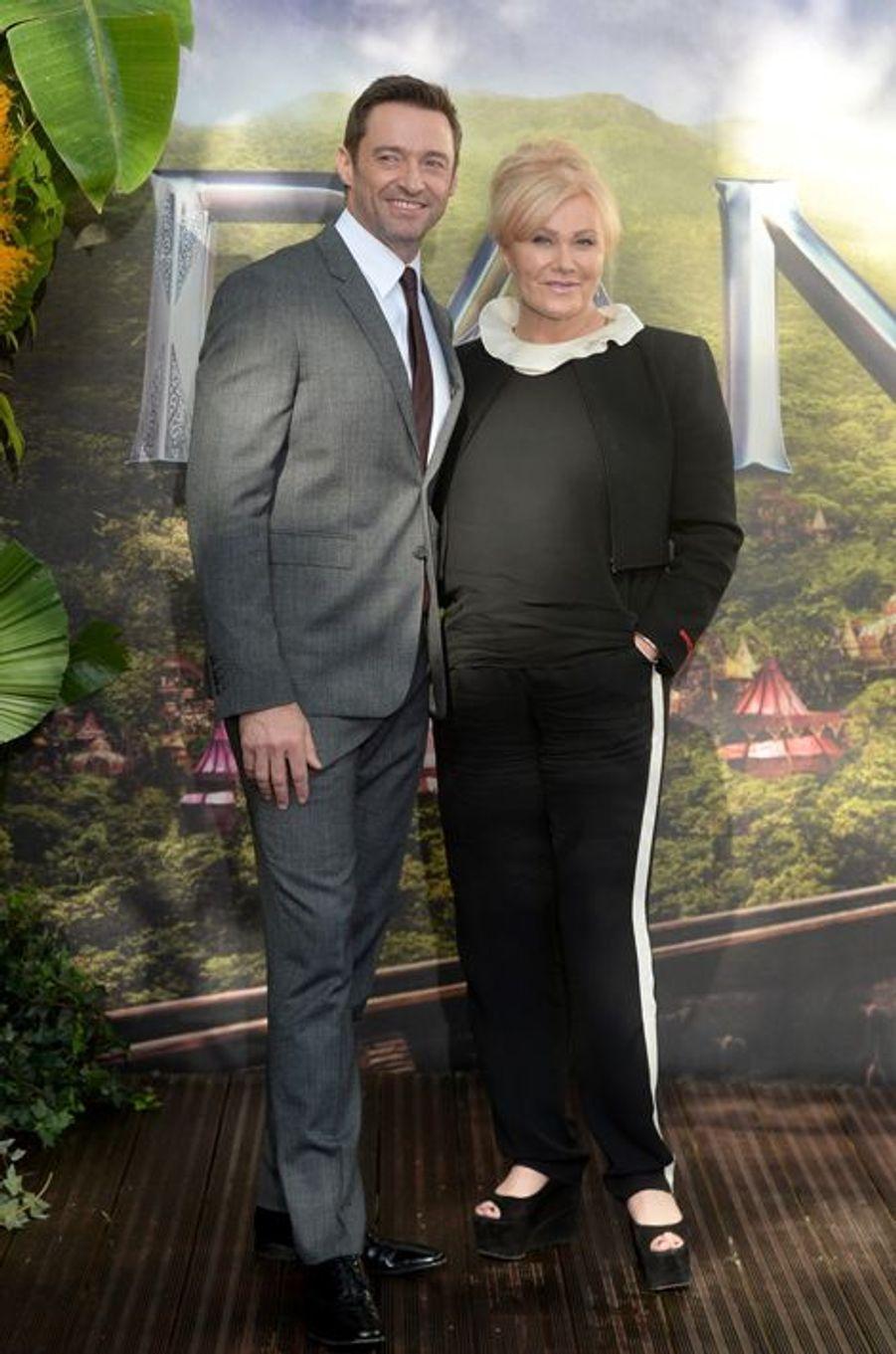 Hugh Jackman et son épouse à Londres le 20 septembre 2015